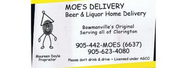 Moe's Delivery business card